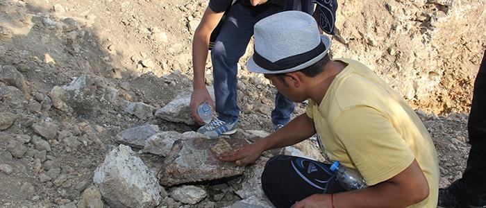 Tarihi mozaikler definecilerin tahribatıyla bulundu 11