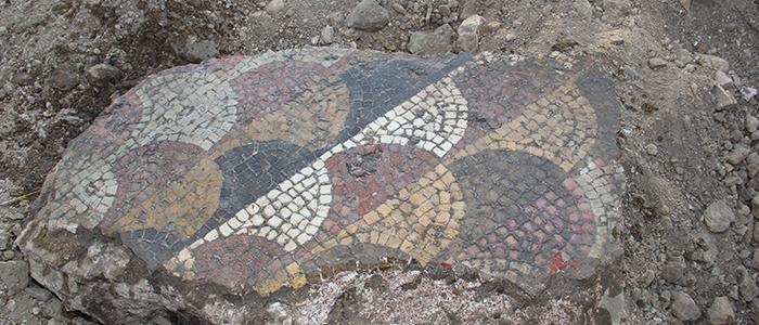 Tarihi mozaikler definecilerin tahribatıyla bulundu 12