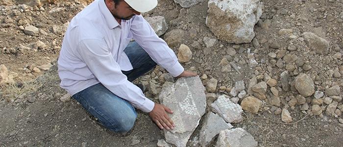 Tarihi mozaikler definecilerin tahribatıyla bulundu 6