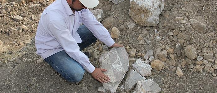 Tarihi mozaikler definecilerin tahribatıyla bulundu 7
