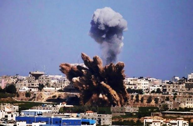 Gazze'ye düşen füzelerdeki gizli silüetler 10