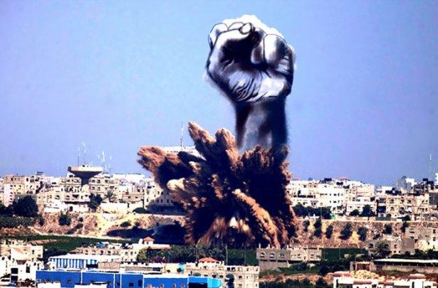 Gazze'ye düşen füzelerdeki gizli silüetler 11
