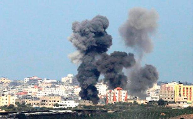 Gazze'ye düşen füzelerdeki gizli silüetler 12