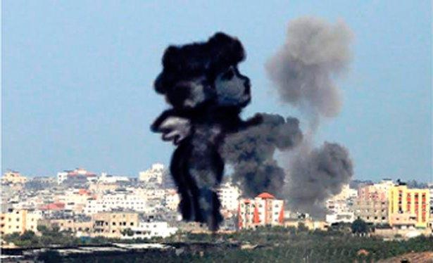 Gazze'ye düşen füzelerdeki gizli silüetler 13
