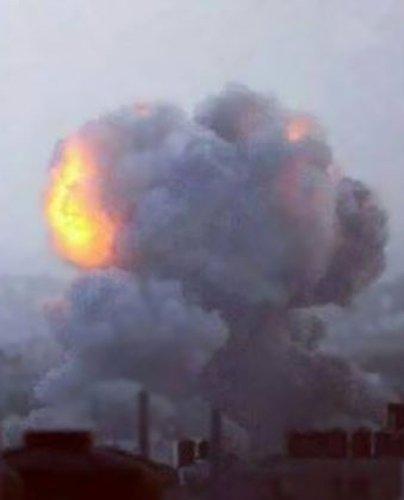 Gazze'ye düşen füzelerdeki gizli silüetler 14