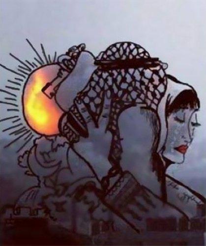 Gazze'ye düşen füzelerdeki gizli silüetler 15