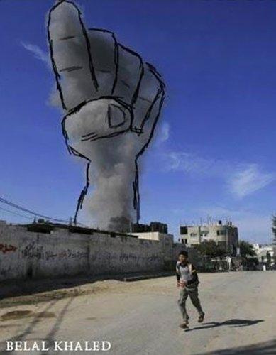 Gazze'ye düşen füzelerdeki gizli silüetler 17