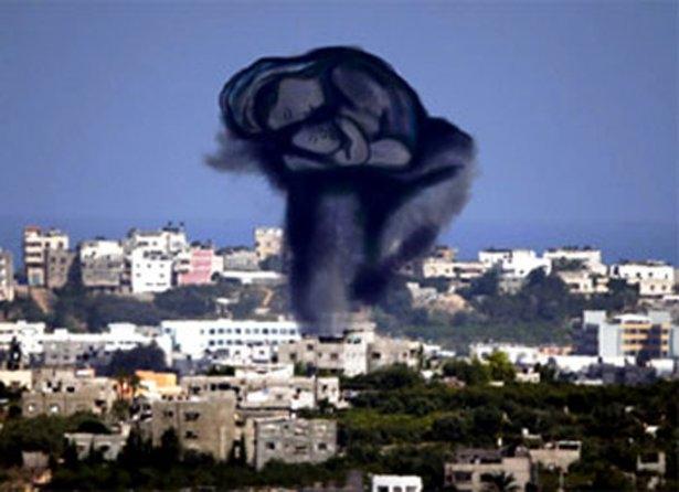 Gazze'ye düşen füzelerdeki gizli silüetler 19