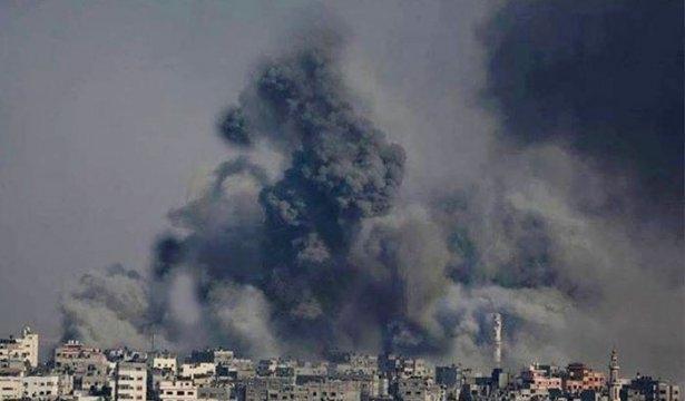 Gazze'ye düşen füzelerdeki gizli silüetler 20