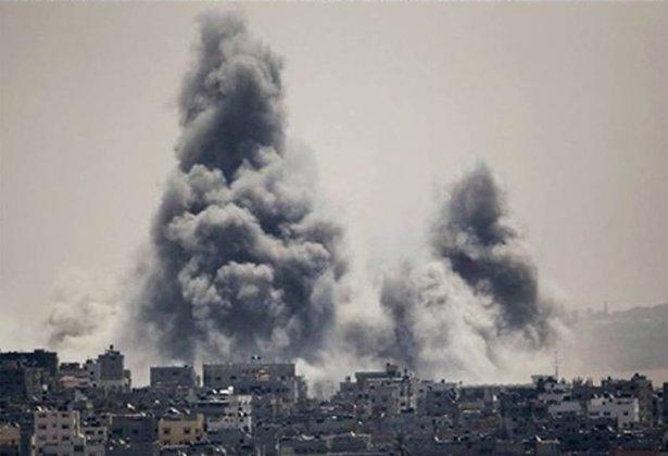 Gazze'ye düşen füzelerdeki gizli silüetler 22