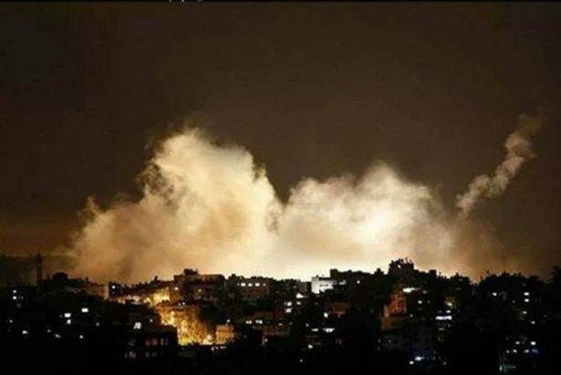 Gazze'ye düşen füzelerdeki gizli silüetler 24