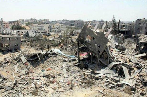 Gazze'ye düşen füzelerdeki gizli silüetler 26