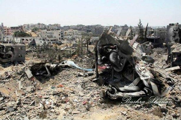 Gazze'ye düşen füzelerdeki gizli silüetler 27