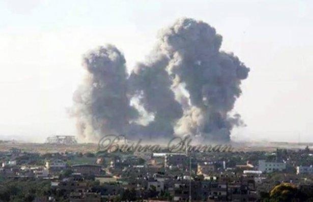 Gazze'ye düşen füzelerdeki gizli silüetler 28