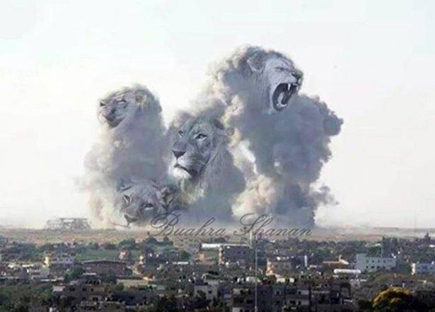 Gazze'ye düşen füzelerdeki gizli silüetler 29
