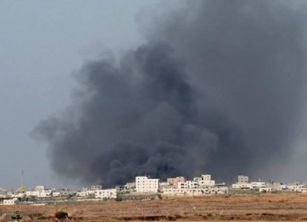 Gazze'ye düşen füzelerdeki gizli silüetler 30