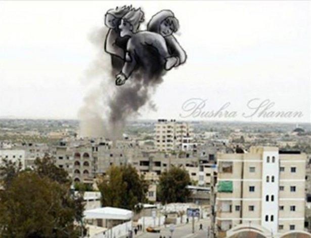 Gazze'ye düşen füzelerdeki gizli silüetler 33