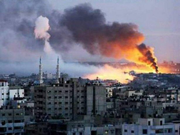 Gazze'ye düşen füzelerdeki gizli silüetler 34