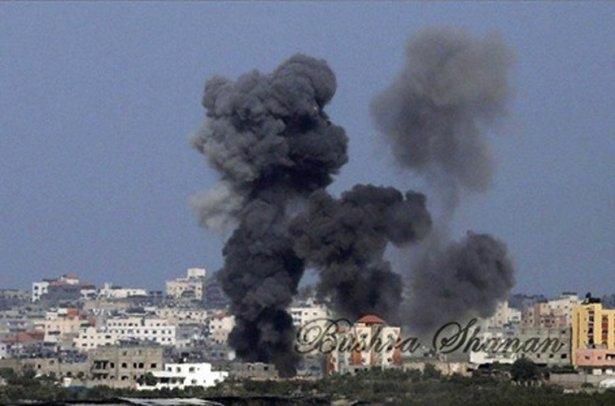 Gazze'ye düşen füzelerdeki gizli silüetler 36