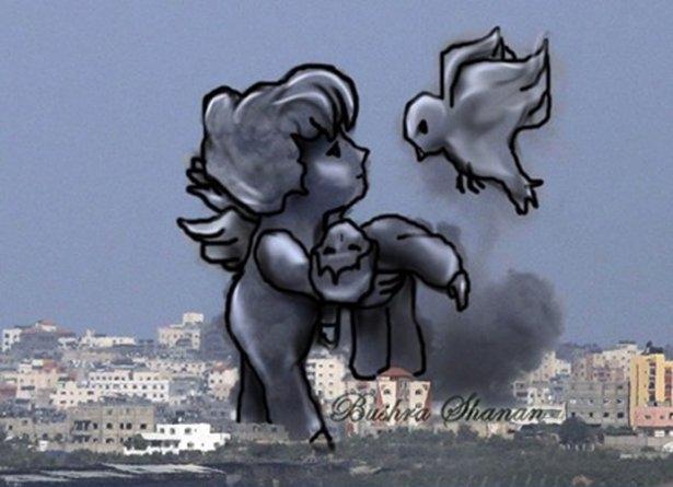 Gazze'ye düşen füzelerdeki gizli silüetler 37