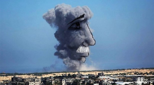 Gazze'ye düşen füzelerdeki gizli silüetler 4