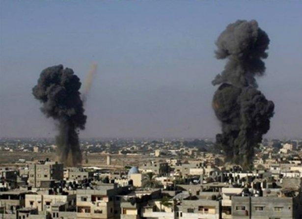 Gazze'ye düşen füzelerdeki gizli silüetler 40