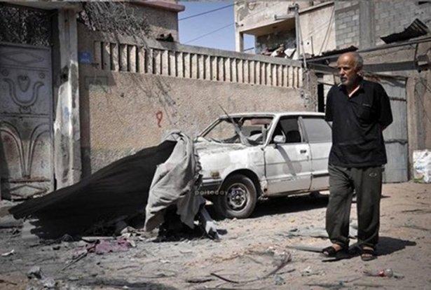 Gazze'ye düşen füzelerdeki gizli silüetler 42