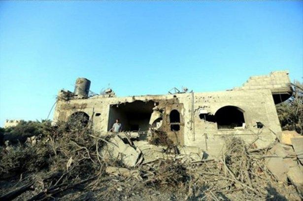 Gazze'ye düşen füzelerdeki gizli silüetler 44