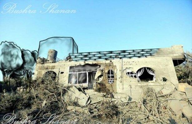 Gazze'ye düşen füzelerdeki gizli silüetler 45