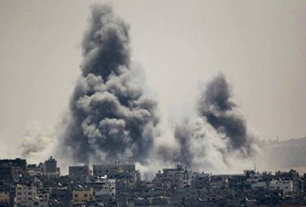 Gazze'ye düşen füzelerdeki gizli silüetler 46