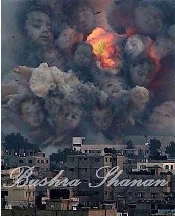 Gazze'ye düşen füzelerdeki gizli silüetler 6