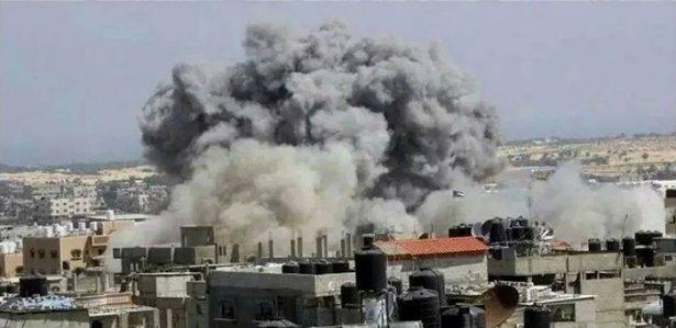 Gazze'ye düşen füzelerdeki gizli silüetler 7