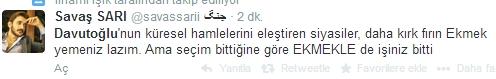 Sosyal medyada Davutoğlu sesleri 14