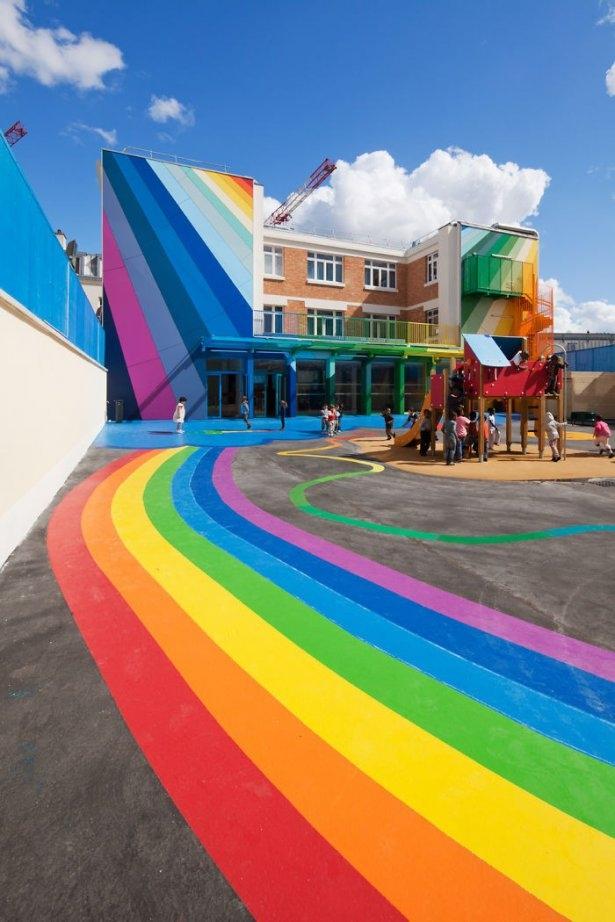 Dünyanın en güzel renkli evleri 10