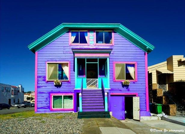 Dünyanın en güzel renkli evleri 12