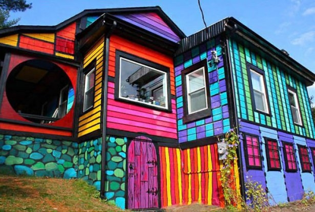 Dünyanın en güzel renkli evleri 3