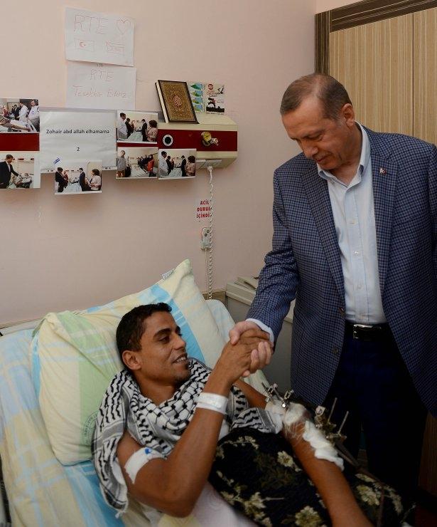 Erdoğan'dan Gazzeli yaralılara ziyaret 1