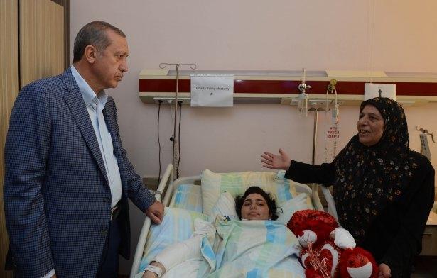 Erdoğan'dan Gazzeli yaralılara ziyaret 11