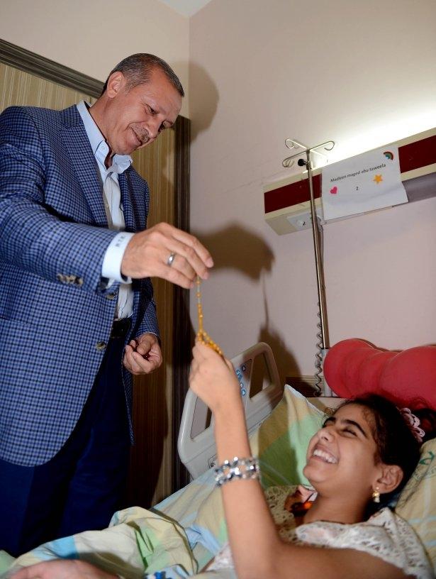 Erdoğan'dan Gazzeli yaralılara ziyaret 5