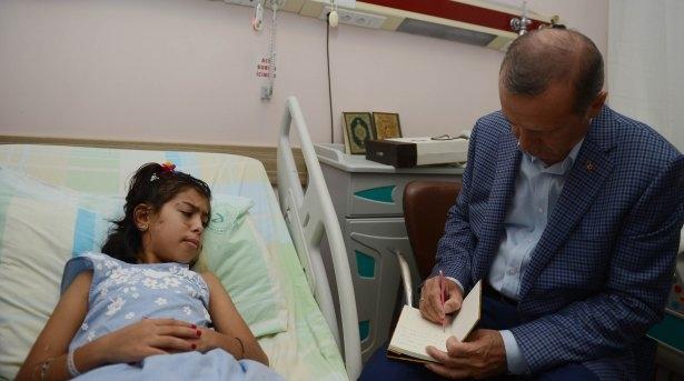 Erdoğan'dan Gazzeli yaralılara ziyaret 7