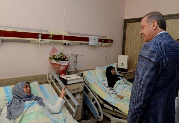Erdoğan'dan Gazzeli yaralılara ziyaret 8