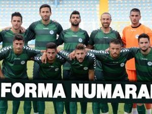 Torku Konyaspor'da Forma Numaraları