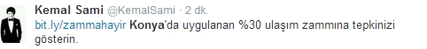 Ulaşım zammına twitter'dan tepki 22