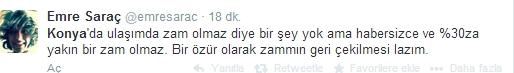 Ulaşım zammına twitter'dan tepki 26