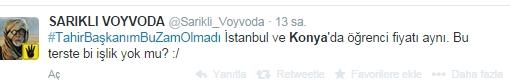 Ulaşım zammına twitter'dan tepki 28