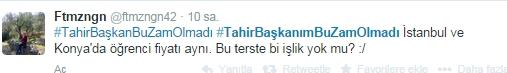 Ulaşım zammına twitter'dan tepki 33