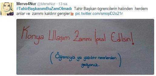 Ulaşım zammına twitter'dan tepki 38
