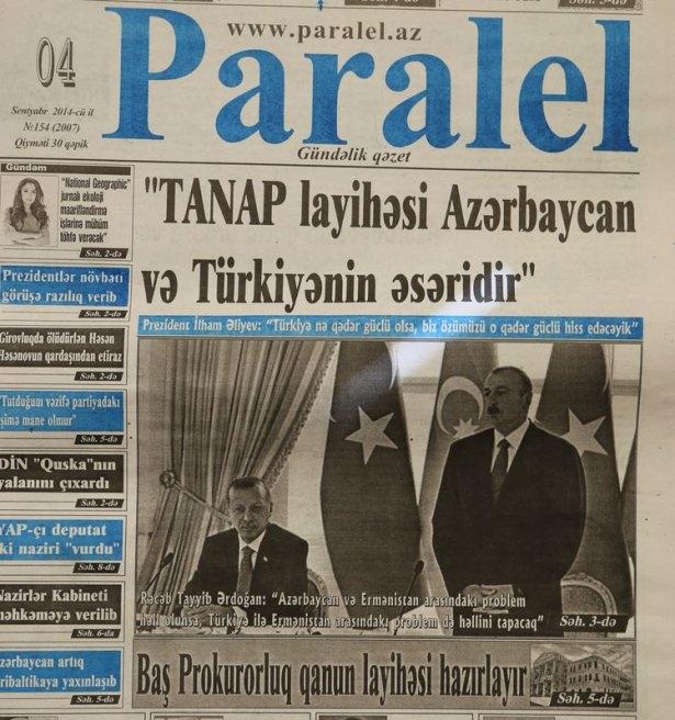 Erdoğan'ın ziyareti Azerbaycan basınında 1