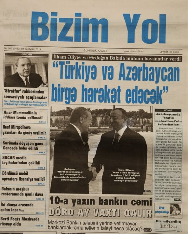 Erdoğan'ın ziyareti Azerbaycan basınında 4