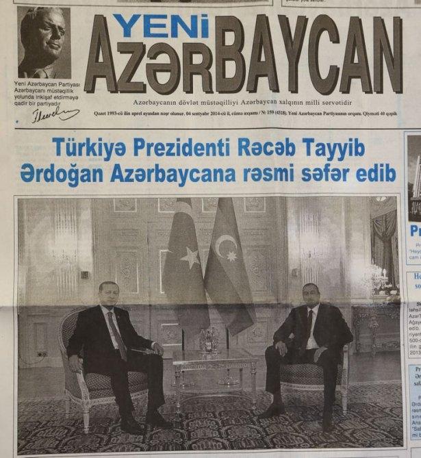 Erdoğan'ın ziyareti Azerbaycan basınında 5